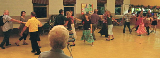 Dancers at the September, 2011, English Country Dance